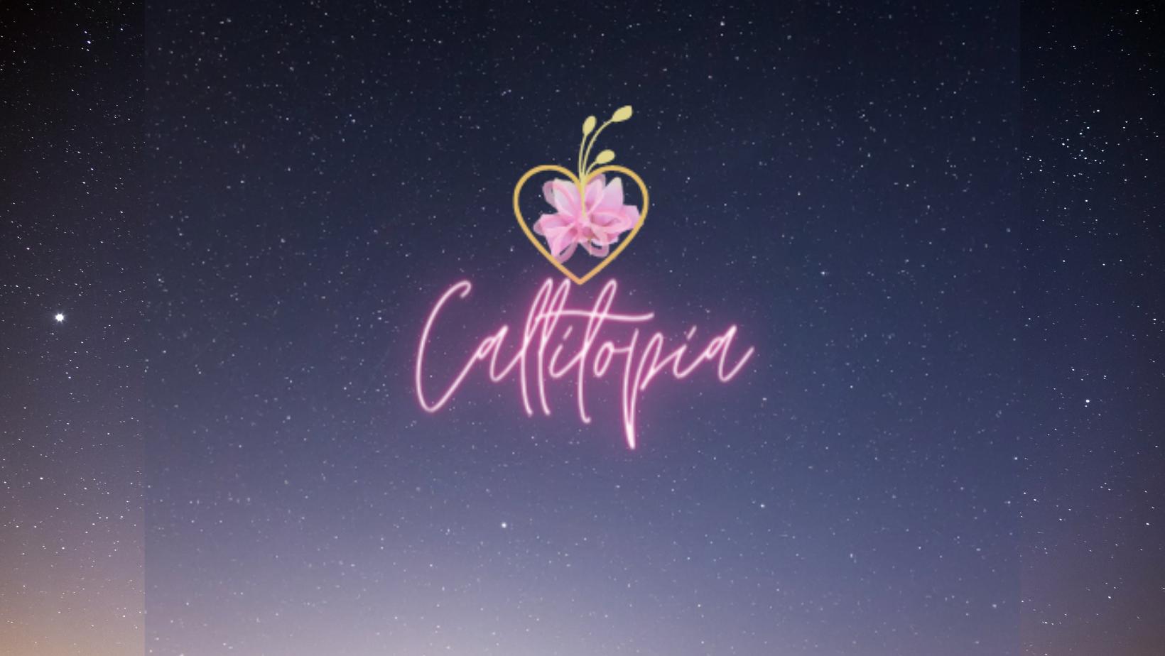 callitopia neon pink script